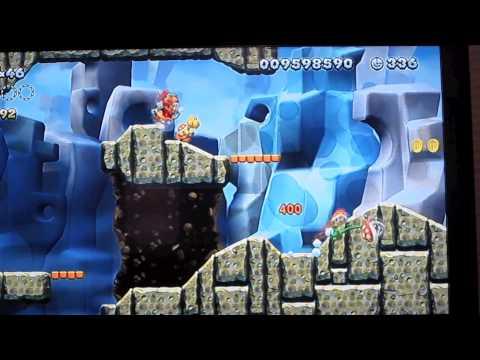New Super Mario Brothers. U – Candy Rock Mountain-5 / Walking Piranha Plants Secret Path