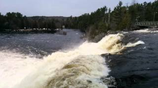 Bracebridge (ON) Canada  city pictures gallery : High Falls, Bracebridge, ON, Canada - April 2014