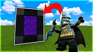 How To Make a Portal to the Lego Batman Dimension in MCPE (Minecraft PE)