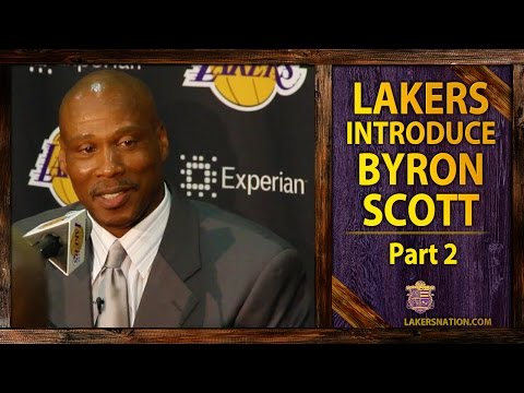 lakers - The Los Angeles Lakers introduced new head coach Byron Scott, who says the organization is not about winning conference titles, it's about winning championships.
