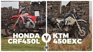 9. Honda CRF450L v KTM 450EXC - The lightweight ADV bike Test