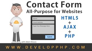 Contact Form Web Application Tutorial Ajax HTML5 PHP