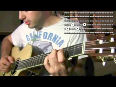 Easy beginner song Metallica ONE Intro guitar lesson
