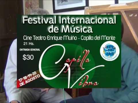 ESTEBAN MORGADO ACTUARA EL DOMINGO 20: COMIENZA EL FESTIVAL INTERNACIONAL DE MUSICA CAPILLA VIBRA
