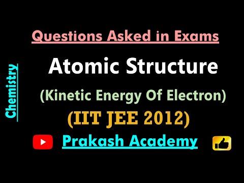 IIT JEE 2012 Frage 25 Atomare Struktur