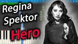 Regina Spektor - Hero [Piano Tutorial] Synthesia