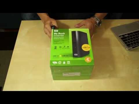 Western Digital My Book Essential 2 TB USB 3.0 Desktop External Hard Drive Unboxing & First Look