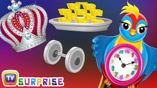 Surprise Eggs Nursery Rhymes Toys  Hickory Dickory Dock  Learn Colours  ChuChu TV