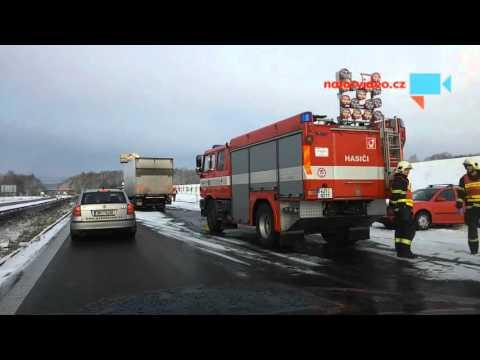 Kalamita na D1 - nehoda osobních aut