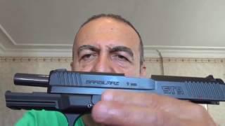 Girsan MC 28 SA, Sarsılmaz ST 9, Canik TP 9 ve Sig Sauer P220 nin sürgü kapanma denemeleri.
