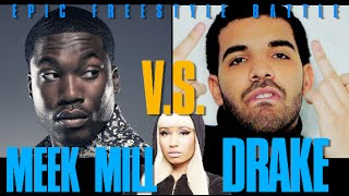 Drake vs. Meek Mill (Epic Freestyle Battle Parody) feat. Nicki Minaj