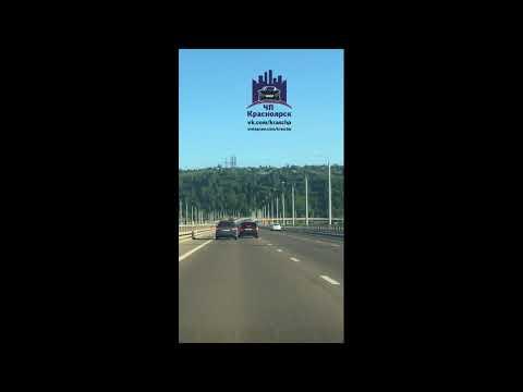 Николаевский мост 08.08.2018 ЧП Красноярск - DomaVideo.Ru
