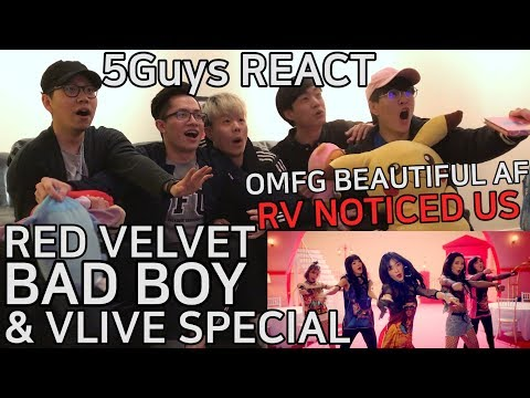 Video [THIRSTY FANBOYS] Red Velvet (레드벨벳) - Bad Boy (5Guys MV REACT) & VLIVE SPECIAL download in MP3, 3GP, MP4, WEBM, AVI, FLV January 2017