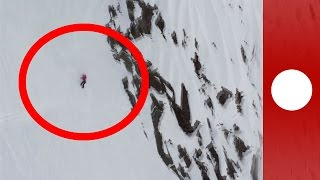 Watch - Pro-skier plummets 1000ft down Alaskan mountain