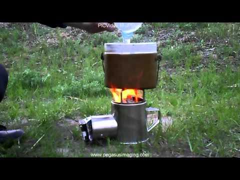 """Печка с турбо поддувом на вентиляторе \""""печка Бонда\"""" - тест. Первый розжиг. смотреть видео 2015 Viderok.RU"""