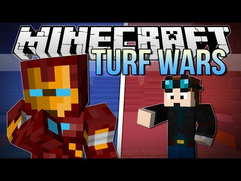 IRON MAN'S A CHEATER! | Minecraft: Turf Wars Minigame