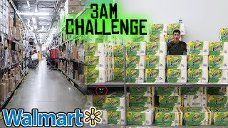 3 AM CHALLENGE IN WALMART! (KICKED OUT)