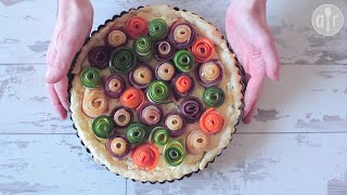 Tarta warzywna z różyczkami