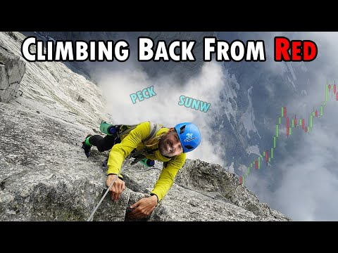 Climbing Back From Red + A New Swing Trade! #PECK #SUNW