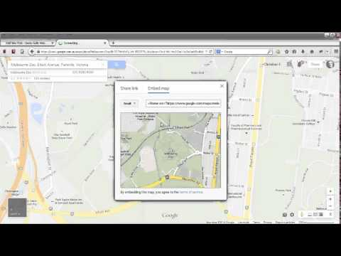 How to embed a map on your site