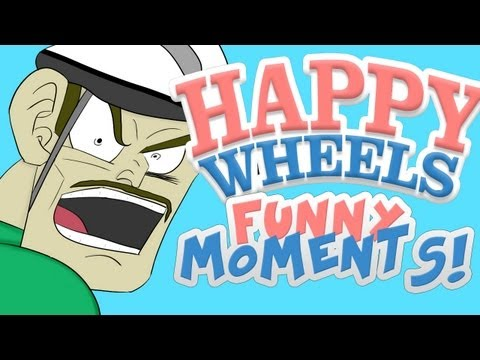 HAPPY WHEELS - FUNNY MOMENTS MONTAGE #3_Best video games videos ever