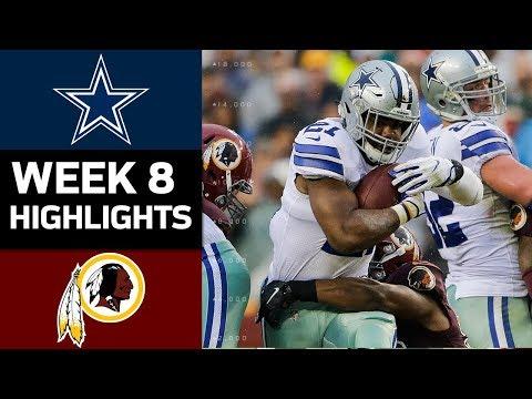 Cowboys vs. Redskins | NFL Week 8 Game Highlights - Thời lượng: 8:32.