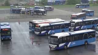 Proefrijden voor nieuwe Leeuwarder busstation