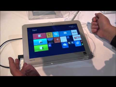 Toshiba Encore 2 Write Featuring Wacom Active ES pen at CES 2015