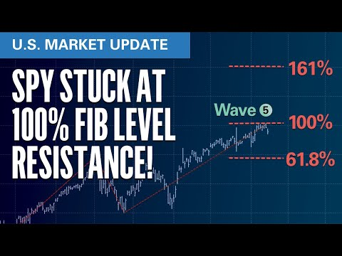SPY Stuck at 100% Fib Resistance | S&P500 VIX Elliott Wave U.S. Market Update
