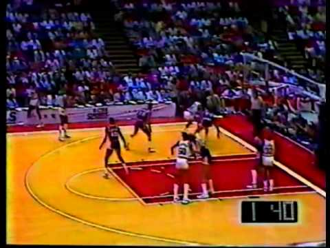 Hakeem Olajuwon scores 35 on Kareem, Lakers - 1986 West Finals Game 4