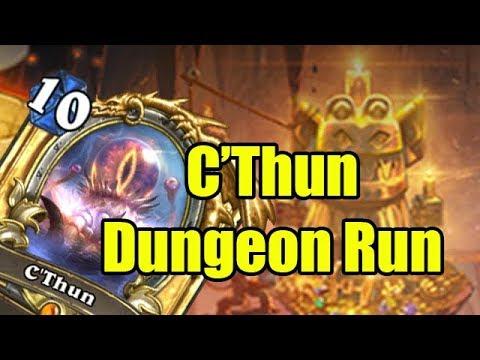 Hearthstone Dungeon Runs: The Great C'Thun Run (видео)