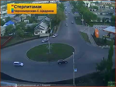 Водитель ВАЗ 2114 не заметил кольцо г.Стерлитамак 26.05.13
