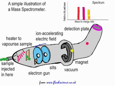 spectrometer - http://www.franklychemistry.co.uk is my YouTube website. Thanks for visiting! This short flash animation video outlines the basic principles of a Mass Spectr...