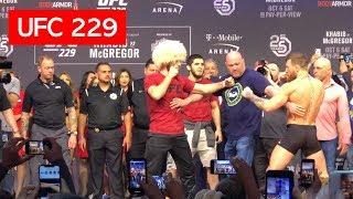 Video STAREDOWN!! CONOR MCGREGOR AND KHABIB NURMAGOMEDOV UFC 229 MP3, 3GP, MP4, WEBM, AVI, FLV Oktober 2018