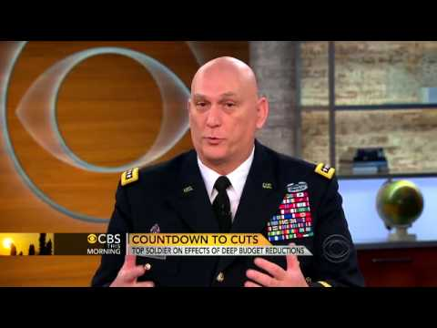 defense spending cuts - Army Chief of Staff Gen. Ray Odierno discusses how budget cuts will affect the nation's military, from training to equipping troops.