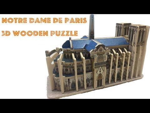 Robotime 3D Puzzle, How to assembly the Wooden Notre Dame De Paris