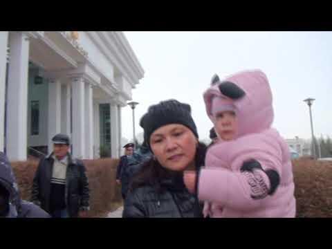 Акция протеста возле здания Верховного суда РК (видео)