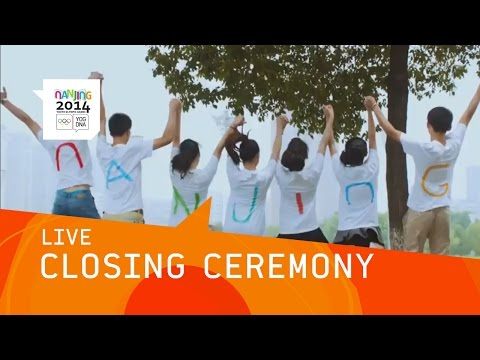 *LIVE* - Live coverage of the Closing Ceremony of the 2014 Youth Olympic Games from Nanjing, People's Republic of China. Today, the curtain comes down on the second Summer Youth Olympic Games and...