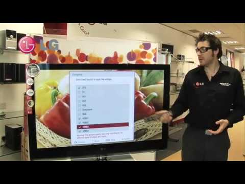 comment regler image tv led lg