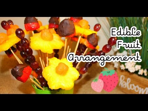 DIY Dollar Tree: How to make an Edible Fruit Bouquet Arrangement | Mother's Day Gift Idea (видео)