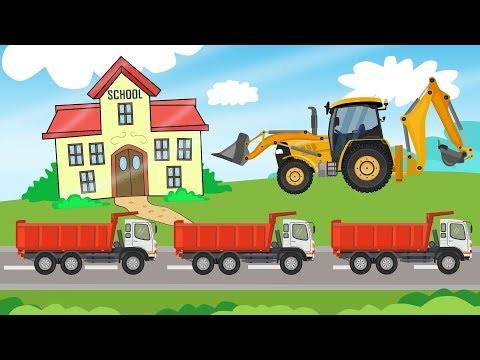 Construction Machinery For Baby | Excavator Street Vehicles | Bajki Koparki dla Dzieci
