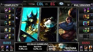 compLexity vs Evil Geniuses | S4 NA LCS Summer split 2014 SuperWeek 7 Day 2 | COL vs EG W7D2 G2