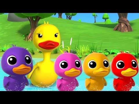 Fünf kleine Enten | Mehr Kinderkinderreime | Five Little Ducks | Preschool Songs | Italiano Rhymes