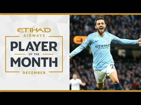 Video: ETIHAD Player of the Month | DECEMBER | Bernardo Silva