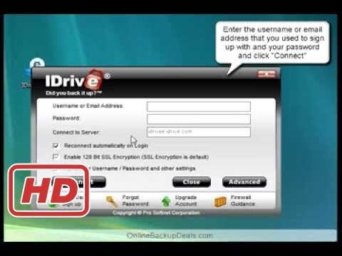 [Tech Tips]How to Install IDrive Online Backup