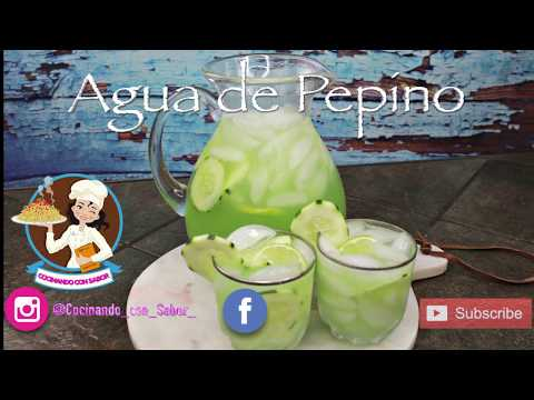 AGUA DE PEPINO, CON INGREDIENTE SECRETO