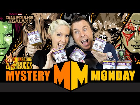 Mystery Monday Episode 6: Unboxing 4 Guardians of the Galaxy Funko Mystery Minis