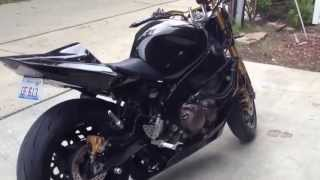 10. My 2004 Kawasaki Ninja ZX-6RR walk around and start up