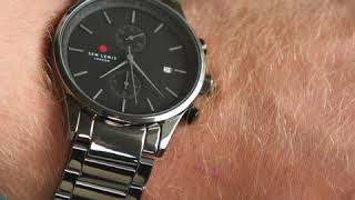 Sem Lewis Metropolitan Oxford chronograph men's watch titanium /titanium