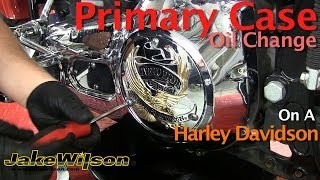 10. Harley Davidson Primary Case Oil Change & Primary Chain Adjustment